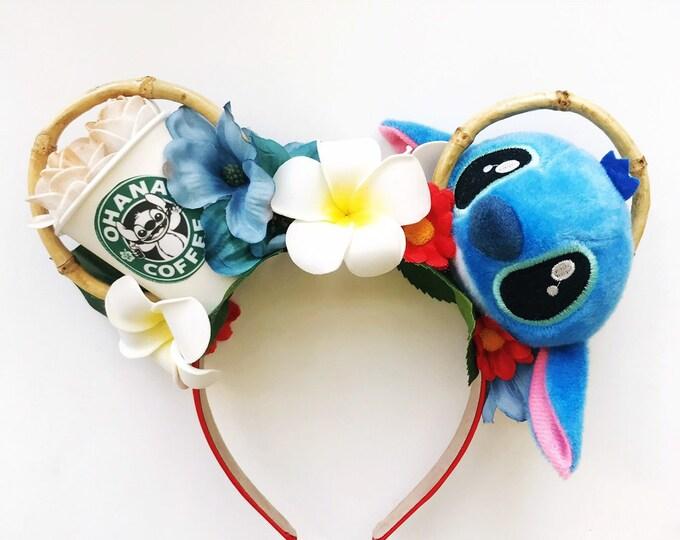 Lilo Stitch Ohana Coffee | Lilo Stitch Mickey Ears | Lilo Stitch Minnie Ears
