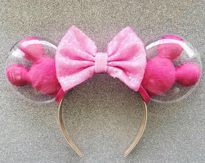 Millennial Pink Mickey Balloon Ears | Pink Balloon Minnie Ears | Mickey Balloons | Disney Lover Gift