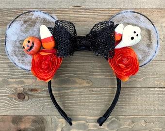 Halloween Minnie Ears | BOO-tiful Halloween Ears | Halloween Disney Ears | Disney Ears | Minnie Ears | Not So Scary Halloween Minnie Ears