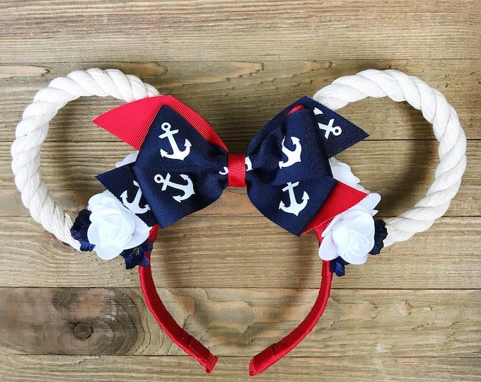 Nautical Cruise Ears/ Nautical Minnie Ears/ Disney Cruise Ears