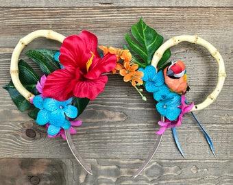 Enchanted Tiki Room/ Minnie Ears/ Tropical Headband