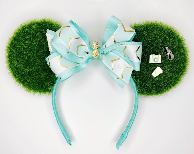Blue Hubgrass Minnie Ears | Hubgrass and Chill Minnie Ears | Blue Bow Minnie Ears | Pineapple Minnie Ears | Hubgrass Minnie Ears