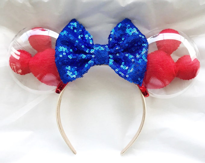 Mickey Balloon Ears | Mickey Balloon Minnie Ears | Minnie Disney Ears | Red Mickey Balloon Headband | Disney Lover Gift | Mickey Balloons