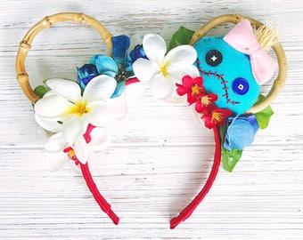 Lilo and Stitch/ Minnie Ears/ Scrump Headband/ Ohana Hawaii Minnie Ears