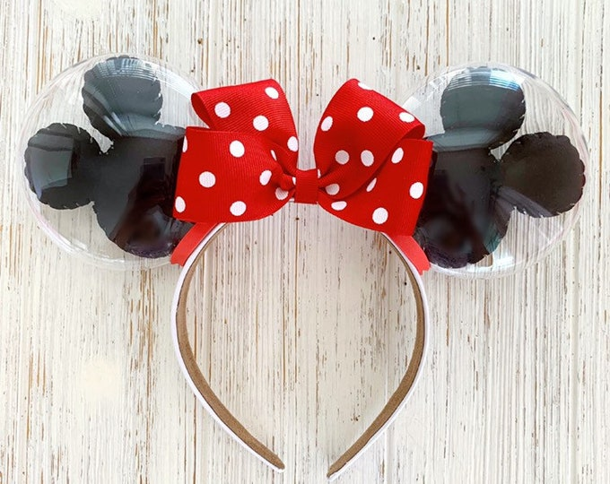 Classic Minnie Balloon Ears | Mickey Balloon Ears | Minnie Polka Dot Bow | Disney Lover Gift
