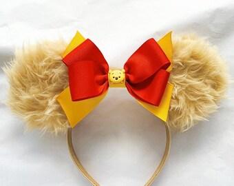 Pooh Bear Tsum tsum Minnie Ears | Pooh bear Minnie Ears | Winnie the Pooh Minnie Ears