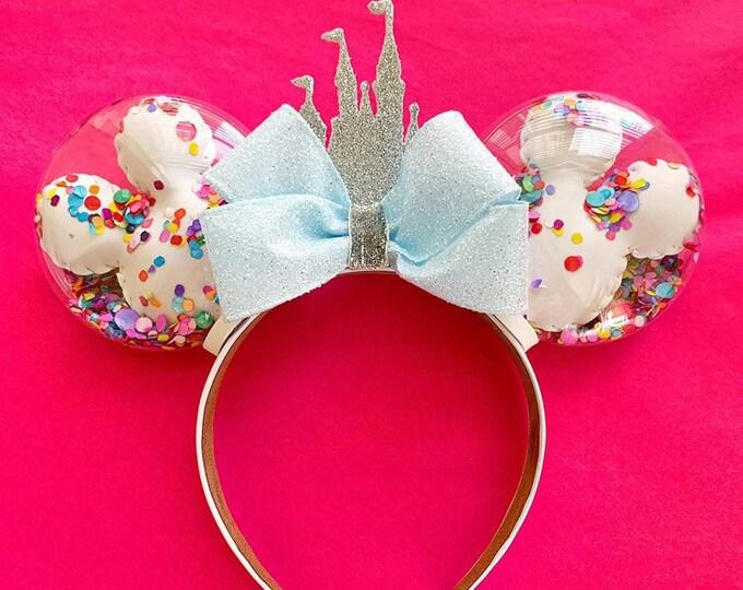 Confetti Balloon Castle Minnie Ears | Mickey Balloon Ears | Cinderella Castle Minnie Ears | Celebration Minnie Ears | Disney Lover Gift