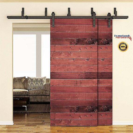 Sale 6 6 Foot Bypass Sliding Double Barn Door Hardware Kit