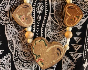 Heart necklace/ handmade necklace/ vintage jewelry