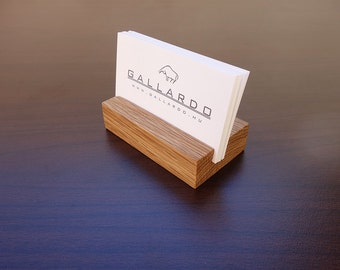Business card stand etsy wood business card holder wooden card holder oak wood business card stand wood card holder office card display personalized card holder colourmoves