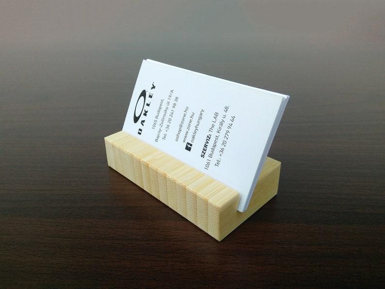 Holz Visitenkartenhalter Natural Bamboobusiness Card Stand Holzkartenhalter Office Card Display Personalisierter Karteninhaber