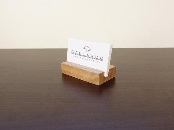 Holz Visitenkarten Etui Holz Kartenhalter Holz Visitenkarte Stehen Holz Kartenhalter Büro Card Display Personalisierte Kartenhalter
