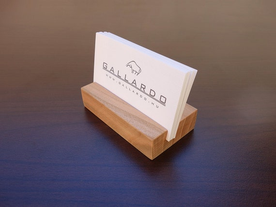 Holz Visitenkarten Etui Holz Kartenhalter Holz Visitenkarte