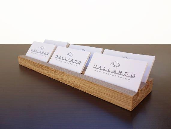 Multiple Wood Business Card Holder Wooden Card Holder Wood Etsy