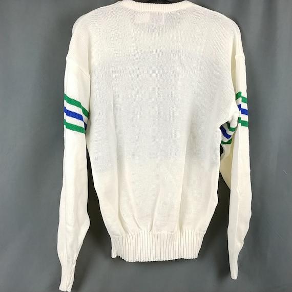 the best attitude a32cf 5c191 Vtg Dallas Mavericks Sweater Cliff Engle 80s 1st Logo NBA NOS Made in USA  Medium