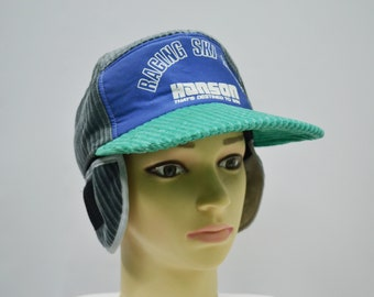 e1a941f27d8 Hanson Cap Hanson Winter Cap Vintage 90 s Hanson Racing Ski Team Hat Hanson  Vintage Ski Wear Made in Japan