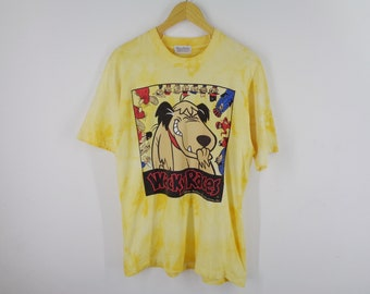 e9bc59d6b5 Tie Dye HANNA BARBERA Shirt Vintage 80s Hanna Barbera Production inc  Dastardly and MUTTLEY Wacky Race Tee shirt Men's Size M
