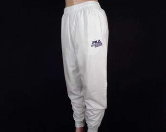 db6c2ac09123 FILA Track Pants Vintage 90S Fila Tracksuit Fila Logo Track Bottom Spellout  Activewear Waist 24-34x27.5 Size M