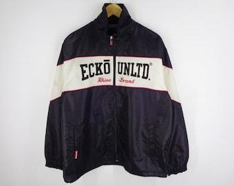 ca97c2263939c ECKO Unltd Winbreaker Vintage 90 s Ecko Unltd Zipper Jacket Ecko Unltd  Rhino Brand Jacket Men s Size L