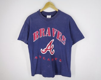 e5ec79d73 BRAVAS Atlanta Shirt Vintage 90 s Braves Atlanta MLB Baseball Shirt Made in  USA Men s Size M