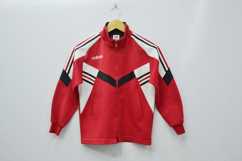 d81cc8070c4b7 Adidas Jacket Adidas Track Jacket Vintage 90's Adidas Colorblock Adidas  Track Top Made in Japan Size Youth 140 Will Fit Size 5-6 years