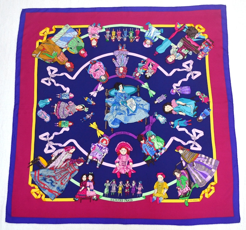 5a5a63fe37bb HERMES Scarf Vintage HERMES Paris Hello-Dolly by