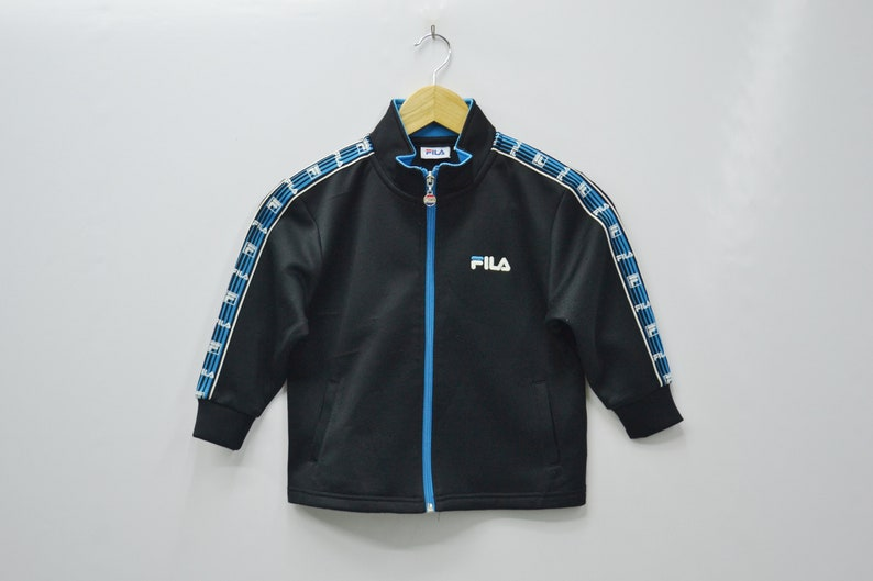 ccbbbfc015638 Fila Jacket Fila Track Jacket Vintage Fila Taped Logo Fila Track Top Size  Youth 110 Will Fit Size 2-3 years