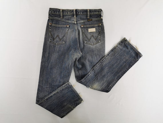Wrangler Jeans Distressed Vintage Wrangler Denim P