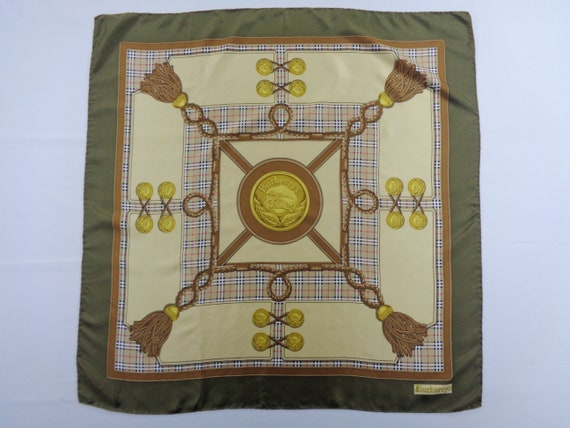 Burberrys Scarf Vintage Burberrys Silk Scarf Burbe