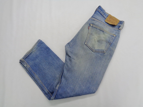 Levis Jeans Distressed Destroy Vintage Size 34 Lev
