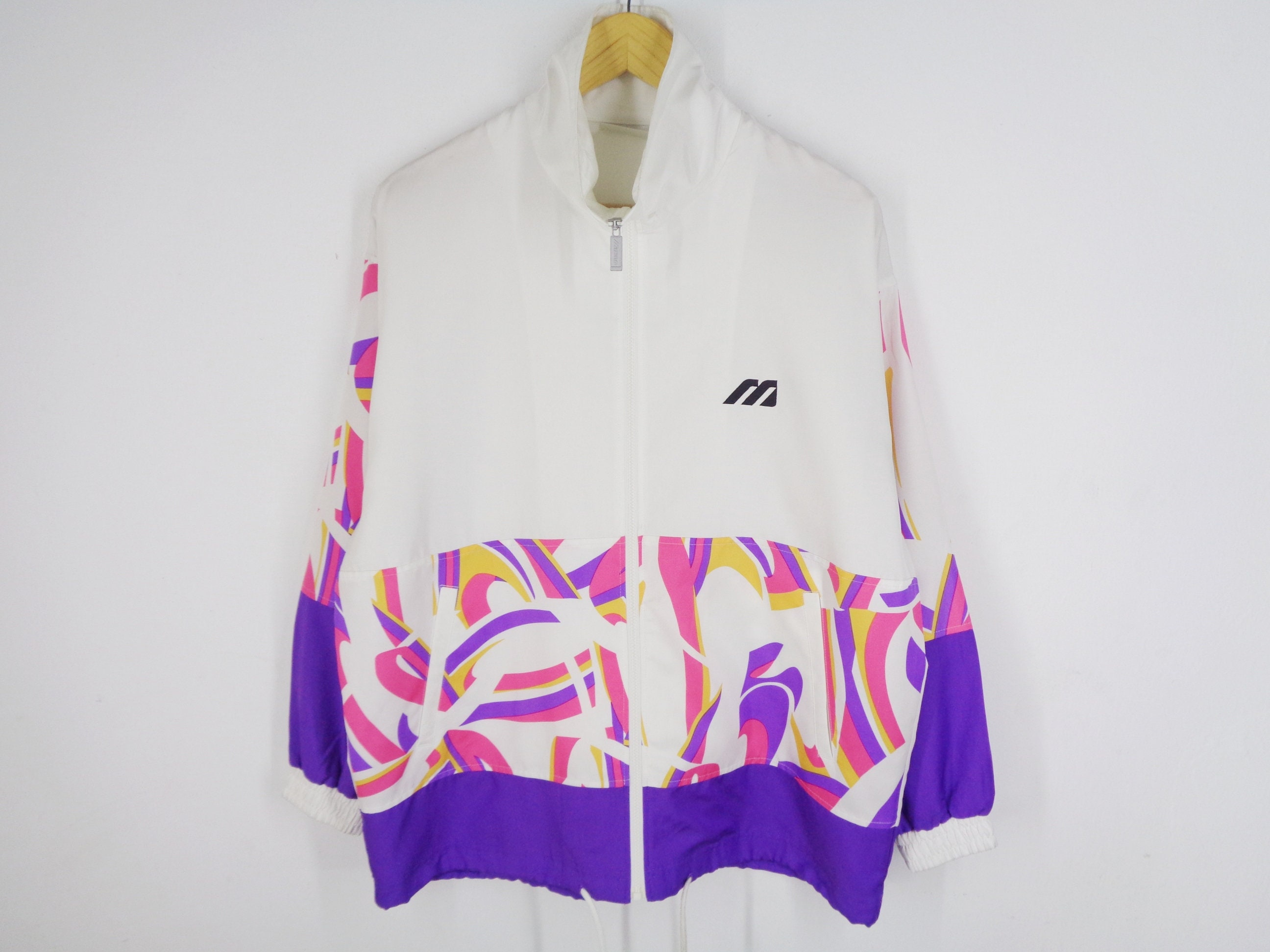 97d802f7e90b5 Mizuno Windbreaker Vintage 90's Mizuno Track Top Colorblock Mizuno Light  Weight Jacket Men's Size L
