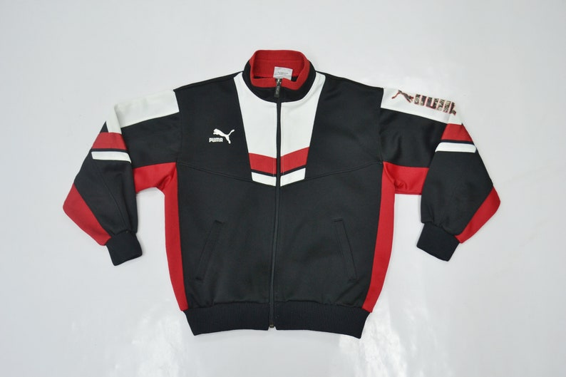 002e2d199d9bf Puma Jacket Puma Track Jacket Vintage 90's Puma Colorblock Spellout Puma  Track Top Made in Japan Size Youth 140 Will Fit Size 5-6 years
