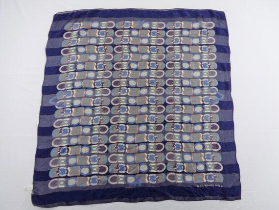 Balenciaga Scarf Vintage Balenciaga Silk Scarf Bal