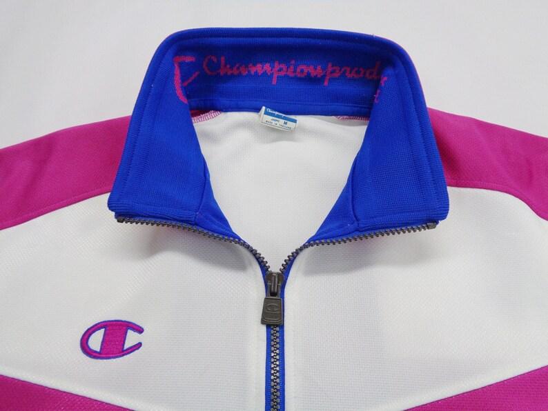 Champion Jacket Vintage Size Jaspo M Champion Track Jacket 90s Champion Colorblock Track Top Jacket Womens Size LXL