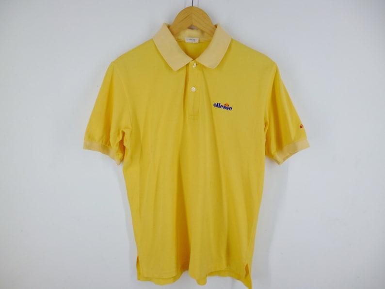 6b13a0859b ELLESSE Casual Shirt Vintage 90s Ellesse Polo Shirt Ellesse Yellow Color  Polo Shirt Ellesse Relaxed Tee Shirt Men's Size M