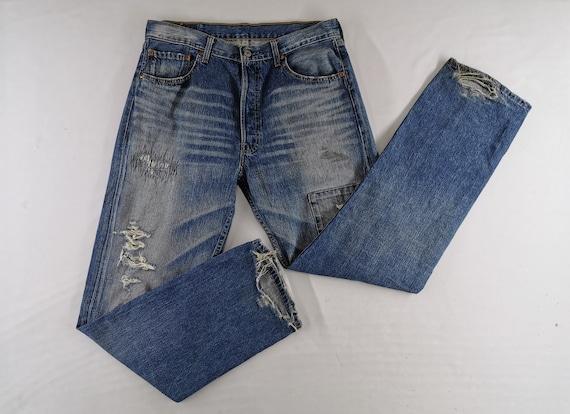 Levis 501 Jeans Distressed Vintage Size 34 Levis 5