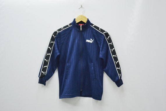 cf16f96044035 Puma Jacket Puma Track Jacket Vintage Puma Taped Logo Puma Track Top Made  in Japan Size Youth 130 Will Fit Size 5-6 years