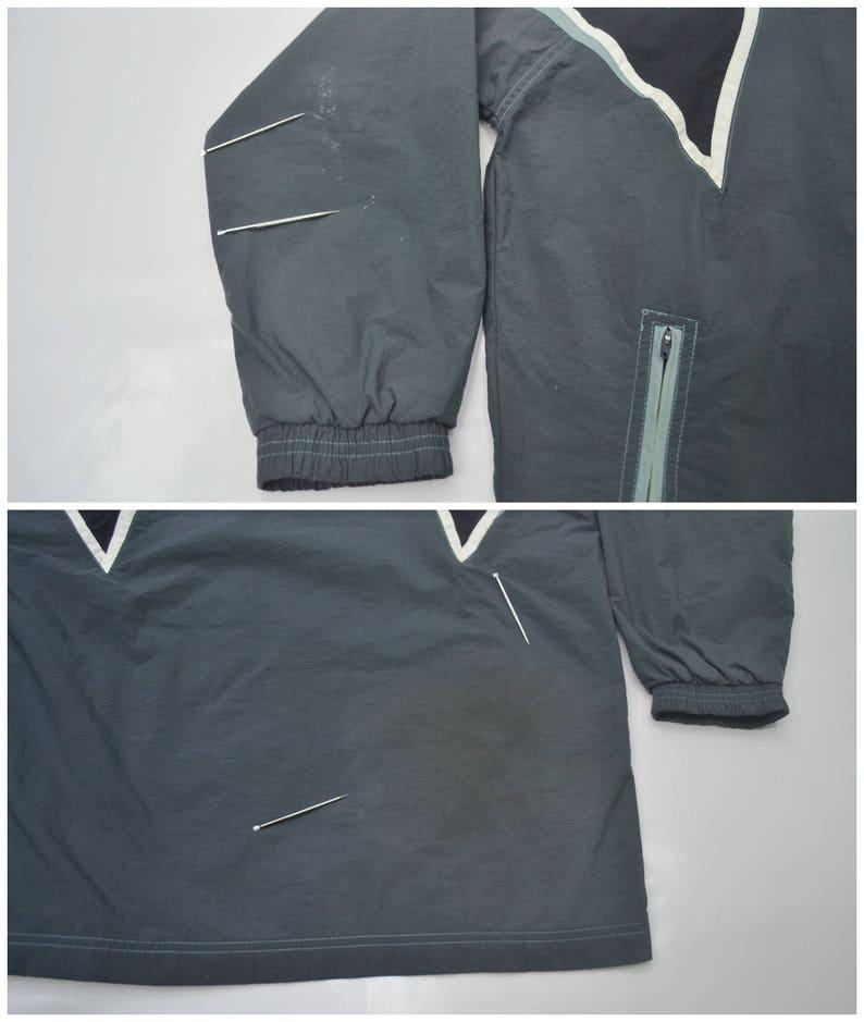 Diadora Jacket Vintage Diadora Windbreaker 90s Diadora Taped Logo Color Block Nylon Windbreaker Jacket Size L