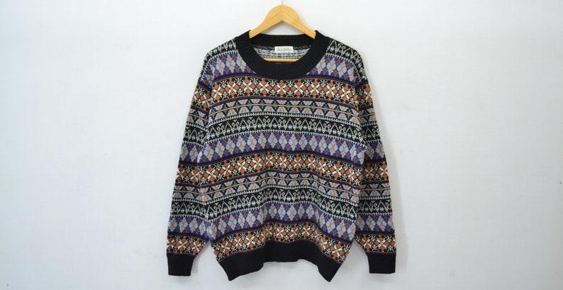 c6e243e48b6 Knitwear Brolly Vintage Knitwear Pullover Crewneck Sweater Jumper Unisex  Wool Sweater Made in Japan Size M