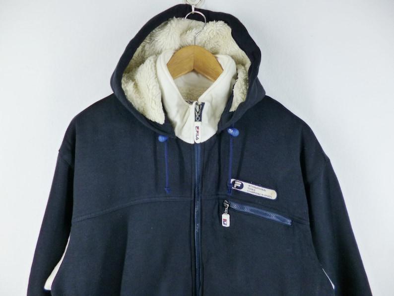 c5778ff31c7 Fila veste Vintage des années 90 Fila Sherpa épeler taille
