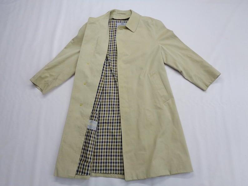 5118348ddf0 Aquascutum Trench Coat Vintage 90's Aquascutum Parka Jacket Coat Aquascutum  Long Coat Made in England Men's Size L