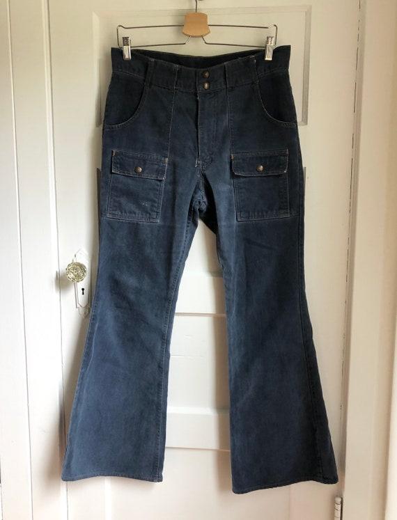 1970s Levi's Denim Boot Cut Jeans- size 34 waist x