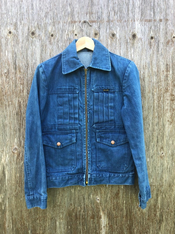 1970s True Blue Wrangler Denim Jacket- size XS