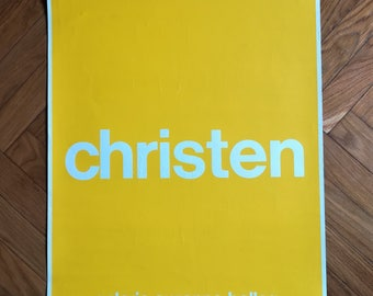 RARE vintage Andreas CHRISTEN poster (1973) serigraph