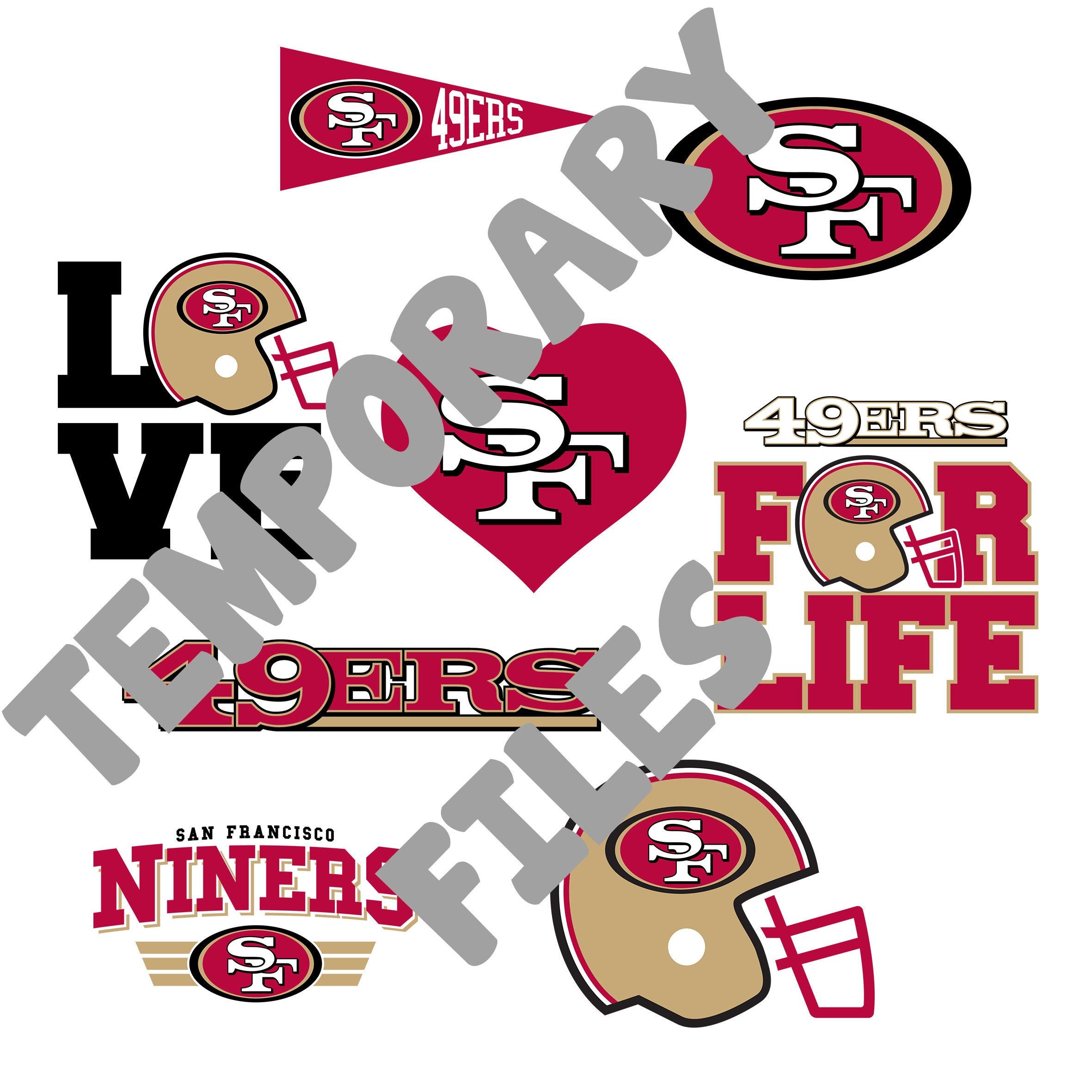 San Francisco 49ers Svg Files American Football Designs Etsy