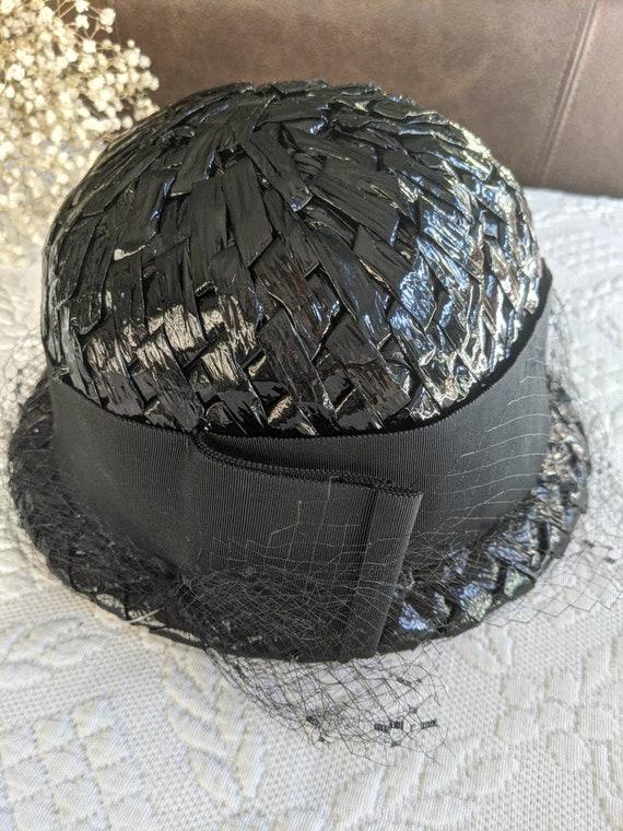 Vintage Straw Raffia Hat Veil by Sonni of Californ