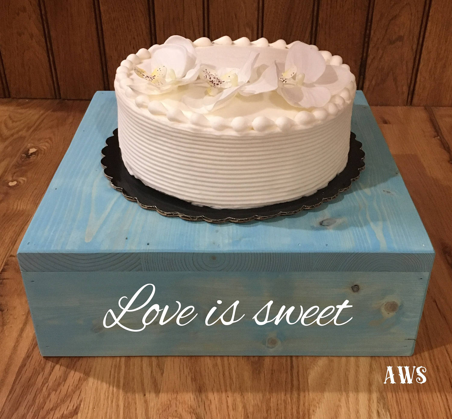 Rustic Wedding Wood Cake Stand: 18x18 Rustic Wood Cake Stand 18 Inch Rustic