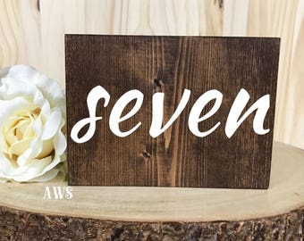 Mariage Double face tableau chiffres, numéros de Table de mariage rustique, numéros de Table en bois, décor de mariage, Table de nombres, rustique