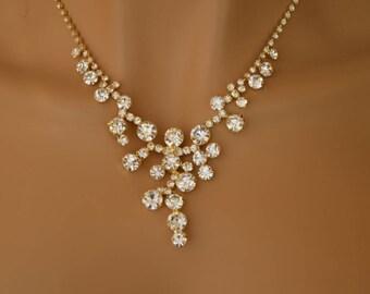 """Set of """"Deniz"""",Rhinestone Jewelry Set, Crystal Wedding Necklace Set, bridal jewelry set, wedding jewelry set, bridesmaid jewelry set."""