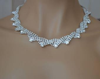 Bridal Necklace,Bridal jewelry Set,Bridesmaid Jewelry Set,Bridesmaid Gift Set,Bridal earrings.